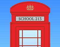Айдентика 213-й школы