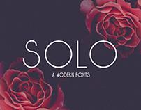 Solo - A Modern Sans Serif