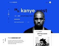 Music Events - UX & UI