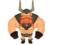 2D Cartoon Viking