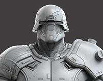Juke Zbrush scuplt - Modern Combat Versus - Gameloft