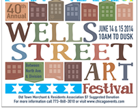 2014 Wells Street Art Festival poster submission