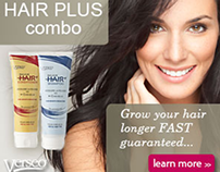 Verseo - Hair Plus Home Page Ad