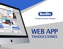 Berlitz webapp Traducciones