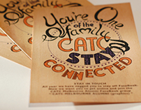Flyer design printed on wood