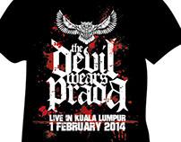 The Devil Wears Prada Live in Kuala Lumpur T Shirt