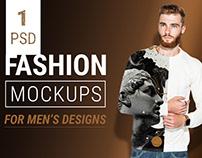 Free Men Fashion Mockup Set