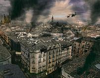 Zaragoza destruida