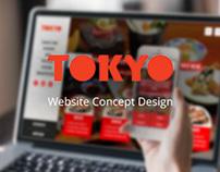 Sushi Restaurant Website Design Concept