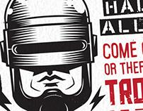 NSFW - Robocop Typographic Poster