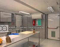 3D Industrial Kitchen