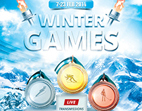 Winter Games Poster | Flyer