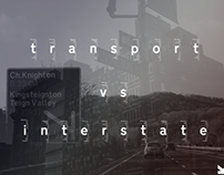 Transport Vs Interstate App Book, Editorial/App Design.