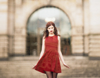 svea and her red dress
