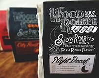 Wood Roasted Coffee Packaging Design
