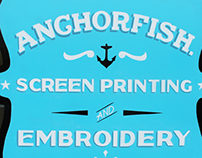 Anchorfish Hand painted sign