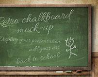 Retro ChalkBoard Mock-Up