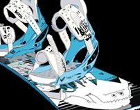 Infography snowboard Burton