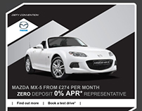Email templates for Mazda