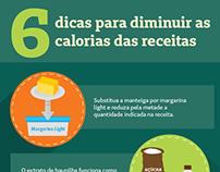 Infográfico - Diminuir Calorias das Receitas