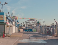 An empty Coney Island.