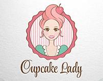 Cupcake Lady - Logo for Sale ! www.One-Giraphe.com