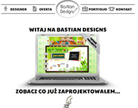"Bastian Designs ""one page"" website"