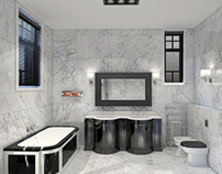 White marble luxury bathroom