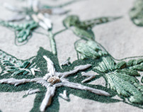 plantas silvestres, bordados