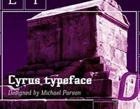 Cyrus typeface