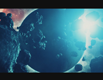 Space Environment With Asteroids