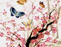 Butterflies & Peach Blossoms