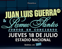 Juan Luis Guerra & Romeo Santos en Panama