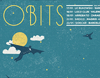 Obits tour poster