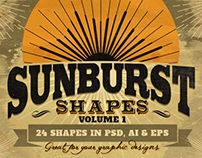 Sunbursts Shapes Vol.1