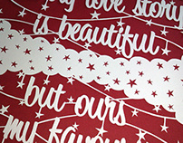 """Beautiful Love Story"" Papercut"