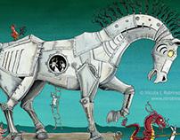 Year of the Horse - Illustration for Chinese New Year