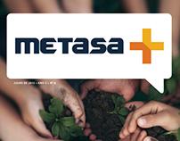 Projeto Gráfico Metasa+ (Agência NúcleoCom)