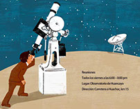 Poster for Astronomical Observatory of Huancayo Peru.