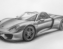 Porsche 918 Spyder • Pencil
