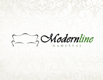 Modern line- web design concept