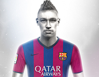 Neymar Illustartion