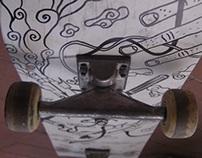 Used skate board restoring