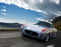 mercedes 300 sl panamericana in action
