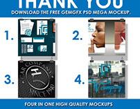 GemGfx Mega PSD Mockup Pack (Free Download)