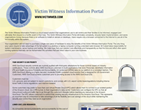 Victim Witness Information Portal one-pager