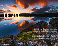 Amazing Iceland │Snorrastaðatjarnir Lake in Winter│Reyk