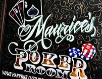 Poker Room Chalkboard Signage