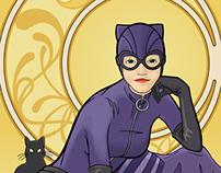 Art Nouveau Catwoman