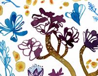 Succulent & Aloe Textile